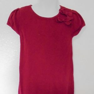 Cherokee Red Holiday Sparkly Ruffle Dress Sz 4T